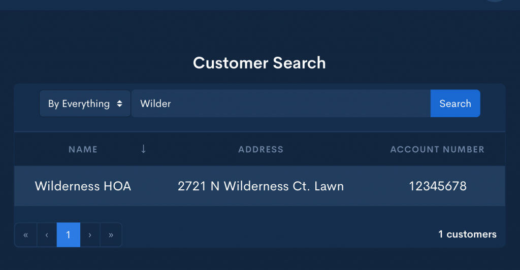 Customer Search Computer View